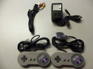 Super Nintendo SNES Controllers AV Cable Power Adapter Bundle Brand New 5Z