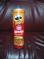 NEW PRINGLES WENDY'S SPICY CHICKEN POTATO CHIPS LIMITED EDITION FLAVOR