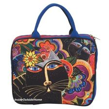 Laurel Burch Carlottas Cat Large Travel Tote Organizer Bag Makeup Craft New 2018