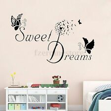 Sweet Dreams Butterfly Wall Stickers Art Vinyl Decals Mural Bedroom Decoration