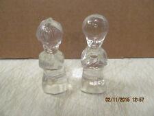 Fenton Glass Clear Boy & Girl Angels   No Reserve