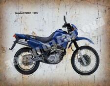 YAMAHA XT600E 1999 MOTORCYCLE  VINTAGE RETRO  METAL TIN SIGN POSTER WALL PLAQUE