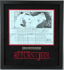 Star Wars - Ep VI - ROTJ Signed Production Storyboard- Luke Escapes Rancor (J14)