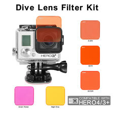 5PCS Professional Colorful Switchable Diving Lens Filter For GoPro Hero 3+ 4