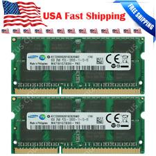 SAMSUNG 16GB KIT 2X8GB PC3L-12800S DDR3-1600MHZ 1.35V 204Pin Laptop Memory Ram