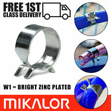 Spring Hose Clips/Fuel Clamps Mikalor Air Gas Water Pipe Self Clamping | 10 Pack
