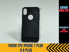 Funda iPhone para 7 Plus y 8 Plus rugged armor carcasa slim efecto carbono
