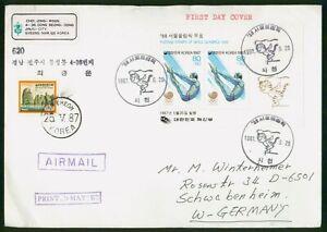 MayfairStamps Korea 1987 Diving Seoul Cover wwp80701