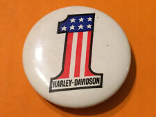 New ListingVintage Harley Davidson Stars & Bars #1 Pinback Button Pin Vest Hat Jacket