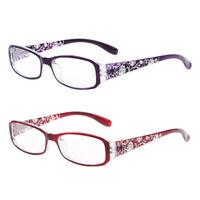 Women READING GLASSES +1.0/+1.5/+2.0/+3.0/+4.0 Eyeglasses Slim Frame Flowers