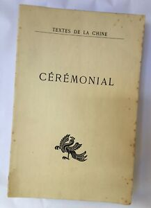 CHINE. COUVREUR (Séraphin) [Ed. & trad.] - Cérémonial - 1951