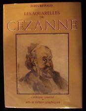 LES AQUARELLES DE Paul CEZANNE Rewald Scarce Dust Jacket Art Watercolor France
