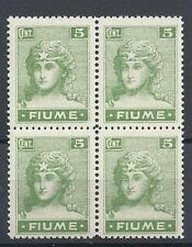 Fiume 1919 Sc# 29 Italy April printing block 4 MNH