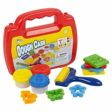13 Piece Play Dough Set Mini Carry Case Craft Shapes Gift Childrens Toys Roller