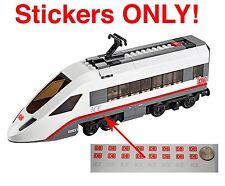 Custom DB Schenker ICE stickers LEGO 60051 High Speed Passenger Train BNSF CSX