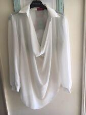 Cream floaty shirt size m/l