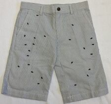 Brooks Brothers Boys Navy & White Pinstripe Shorts w/Embroidered Ants Sz 8 NWOT