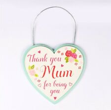 Gift For Mum - Thank You Mum For Being You - Heart Shaped Plaque By Sass & Belle