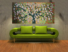 Large Aboriginal INSPIRED  Painting Tree Flower Plant  Oil On Canvas Abstract