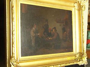 Antique Dutch Master Genre c16/17th Century Original Oil On Panel Painting
