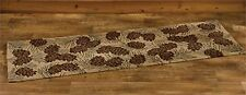 "Park Designs Walk In The Woods Hooked Rug Runner, 24"" X 72"" Pine Cone Hall Rug"