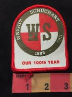 Vtg WRIGHT SCHUCHART INC. 100 Years (? Construction Co.?) Advertising Patch 89XA