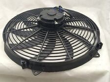 16 INCH 12V BLACK ELECTRIC COOLING FAN PERFORMANCE THERMO FAN  280watt f2