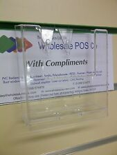 A6 Portrait Flyers & Menu Retail Stand Shop Slatwall Postcard Dispensers 3 Pack
