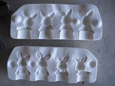 Clay Magic Mold Ceramic Mold  to Make 4 Small Rabbit Bunny Figurines