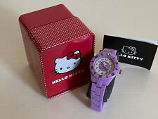 NEW! SANRIO HELLO KITTY PURPLE VIOLET RESIN PLATIC STRAP BRACELET WATCH-H3WL1004