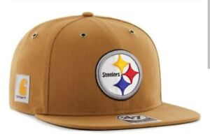 Pittsburgh Steelers '47 Brand Carhartt Captain Mens Brown Adjustable Hat cap new