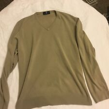 Harbor Bay Marks & Spencer Sweater Acrylic Tan Men's LS V-Neck Sweater Sz XL