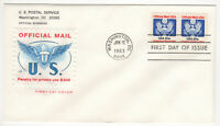 SSS: House of Farnam FDC 1983  20c Coil  US Government, Official Mail      #O135