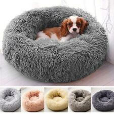 Pet Dog Cat Calming Cute Bed Round Nest Warm Soft Plush Sleeping Bag Comfy Flufy