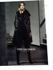 PUBLICITE ADVERTISING 126  2014   manteau fourrure Yves Salomon