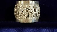 Antique French Sterling PIERCED sterling silver  napkin ring MINERVA 15 g