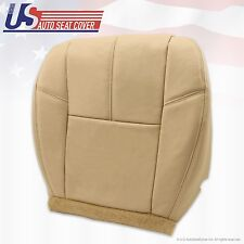 2007 to 2012 GMC Sierra Driver Bottom Leather Seat Cover Tan