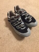 MENS PEARL IZUMI VAGABOND R4 I-BEAM ROAD CYCLING SHOES W/ LOCK CLEATS Size 11.5