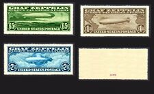 USA 1930 'Graf Zeppelin' Set of 3 (forgeries)