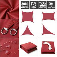 Sun Shade Sail Outdoor Patio Top Canopy Cover 98% Anti-UV Waterproof Red US