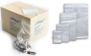 "1000 Clear Grip Seal Bags GL05 Zip Polythene Self Seal 4.5"" x 4.5"" Plastic Bags"