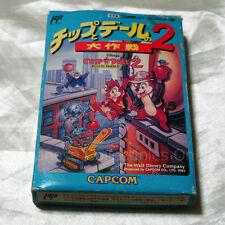 NINTENDO FAMICOM CAPCOM CHIP'n DALE 2 RESCUE RANGER w/box & manual  JAPAN RARE