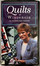 VHS QUILTS OF WISCONSIN 1996 Wisconsin Public TV NANCY ZIEMAN Black Plastic Case