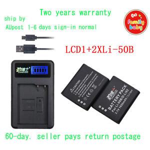 2xBattery+USB LCD1 for Olympus Li-50B TG-850 TG-860 SZ-17 SZ-20 SZ-30MR SZ-31MR