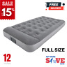 """12"""" Full Size Bestway Air Mattress with Built in AC Pump, Flocked Airbed Camping"""