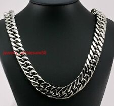 Cool 15mm 24'' Men's Large Stainless Steel Heavy Chunky Curb Link Necklace Chain