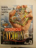 Sealed Monopoly Tycoon Windows PC CD-Rom Big Box Computer Game Sealed 2001
