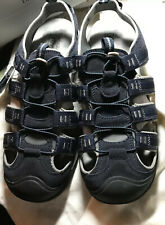 Croft Barrow Combs Men's Ortholite Comfort Fisherman Sandals Navy Blue Size 13