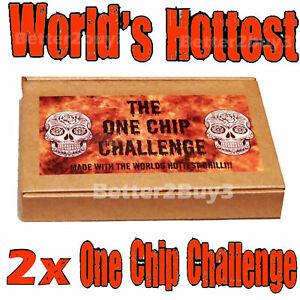 2 x One Chip Challenge Chilli! Carolina Reaper Not Paqui NACHO HOT!!! TWO CHIPS