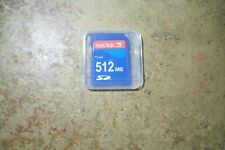 QTY=1 SD CARD SANDISK 512MB With Thin Cases (U.S. Seller)